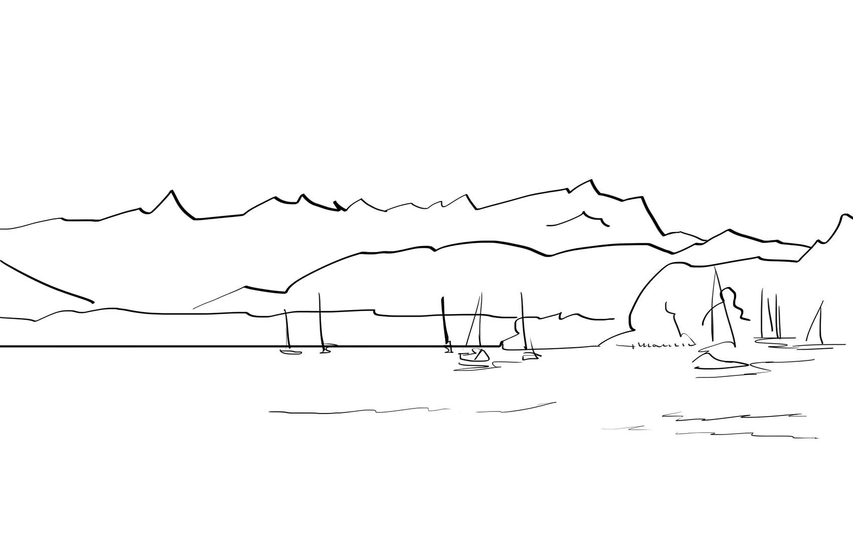 Zeichnung-Starnberger-See